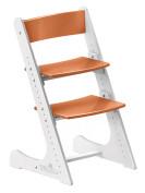 Растущий стул Конёк Горбунёк Бело-оранжевый