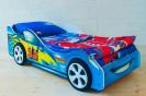 тачка синяя + пластиковые колеса