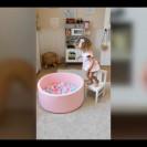 Сухой бассейн Розовый + шары