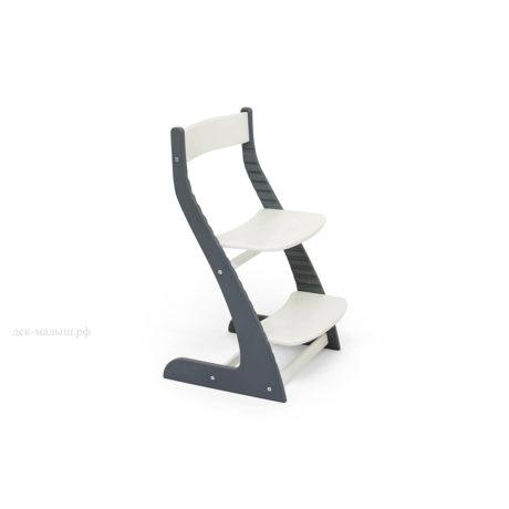 Растущий стул УСУРА графит-белый
