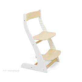 Растущий стул УСУРА белый-бежевый