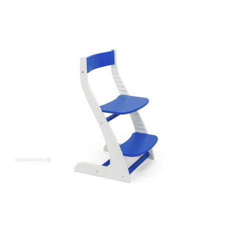 Растущий стул УСУРА белый-синий