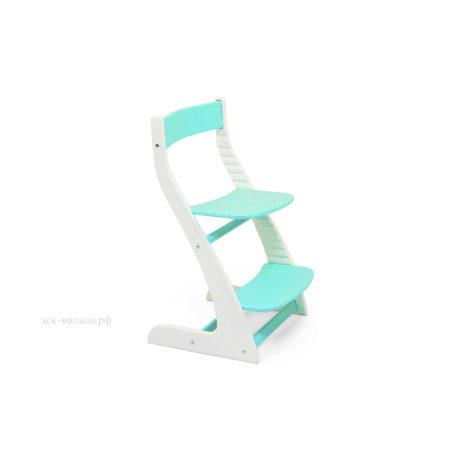 Растущий стул УСУРА белый-мятный
