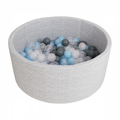 Сухой бассейн Серый + шары