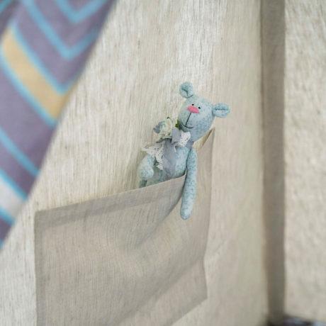 Детский Вигвам серый -зигзаг