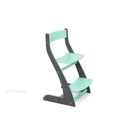 Растущий стул УСУРА графит-мятный